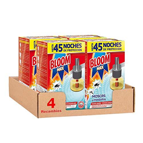 Bloom Insecticida Recambio Max Eléctrico 45 Noches - Pack de 4