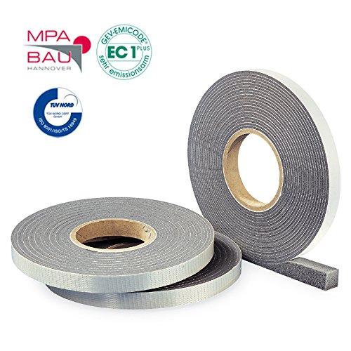 Hannoband HBD Kompriband 15/7-10 Farbe grau 5m Rolle - mit MPA Prüfung