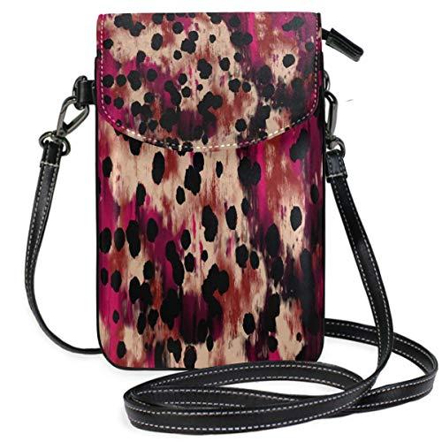 XCNGG Monedero pequeño para teléfono celular Paint Grunge Dots Texture Cell Phone Purse Wallet for Women Girl Small Crossbody Purse Bags
