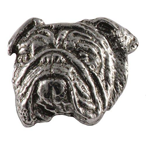English Bulldog Dog Pewter Lapel Pin, Brooch, Jewelry, D072