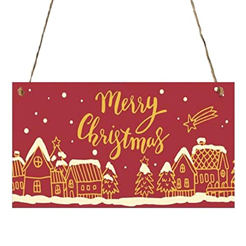 Javntouy Santa 2020 Ornament Wooden Shaped Embellishments Hanging Ornaments for Christmas Decoration Santa M-a-s-k Tree Decoration