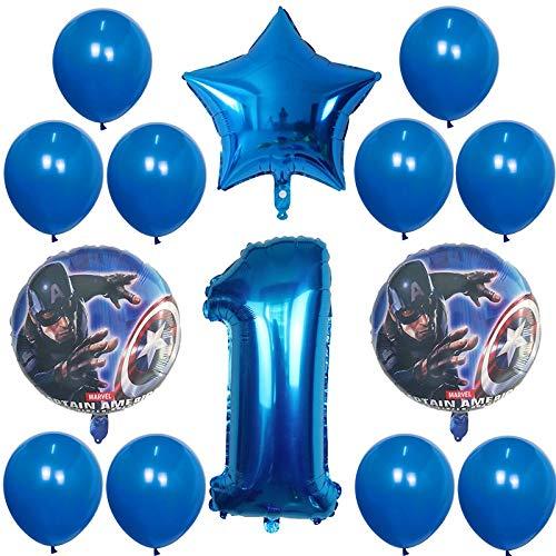 14 Stück/Folienballon 30 Zoll digitaler Ballon Geburtstagsparty Dekoration Superheld Kinder Spielzeug Baby-Dusche Ballon (Color : Plum)