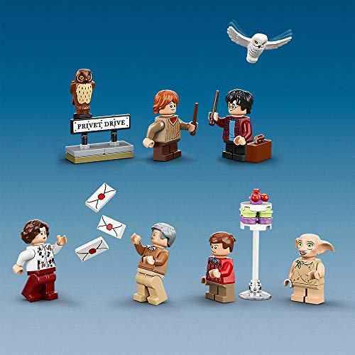 LEGO 75968 Harry Potter 4 Privet Drive House Set with Ford Anglia, Dobby Figure and Dursley Family