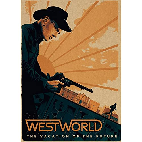 LWJPD Cuadro sobre Lienzo 30x45cm Sin Marco Tv Show Westworld Lienzo Póster Obra De Arte Pintura Lienzo Impresiones Para Coffee House