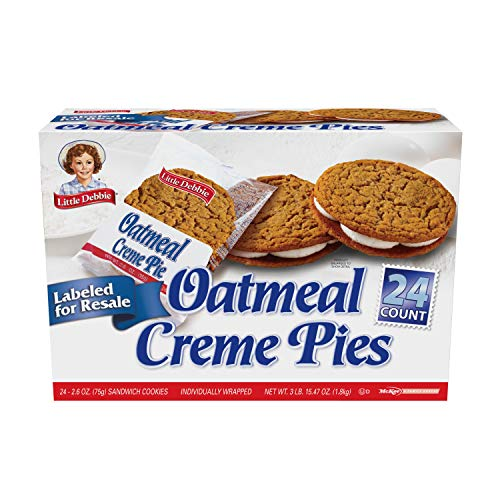 Little Debbie Oatmeal Creme Pies (24 Count of 2.6 oz Cookies) 62.4 oz