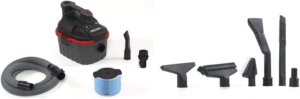 RIDGID 50313 Kansas City Mall 4000RV Cheap mail order specialty store Portable Wet 4-Gallon Vacuum Small Dry