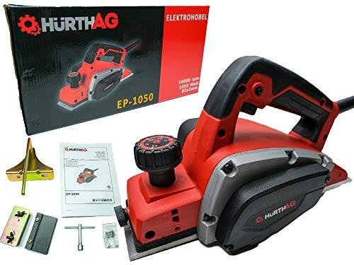 Pialla elettrica HurthAG EP-1050 (1050 W, profondità di taglio fino a 2,5 mm, albero del coltello grande, pattino di parcheggio automatico, incluso arresto di profondità parallela/battuta