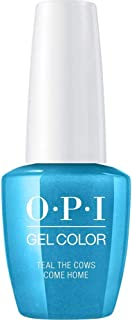 OPI GelColor Soak Off UV LED Gel Polish GCB54 Teal The Cows Come Home 15ml