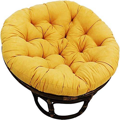 MSTOLL Oversized Papasan Chair Cushion Rattan Papasan Chair Cushion Hanging Egg Chair Pads More versatile Floor seat-120x120cm yellow