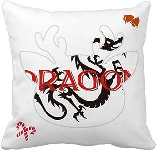 OFFbb-USA Eastern Western Mythology Animal Dragon - Funda cuadrada para almohada