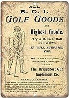B.G.I Golf Goods ティンサイン ポスター ン サイン プレート ブリキ看板 ホーム バーために