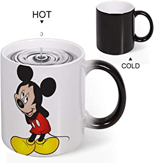 Color Changing Mug Heat Sensitive Coffee Mug Unique Ideal Gifts For Friend Kids Mom Dad-Mickey Mouse Sleepy