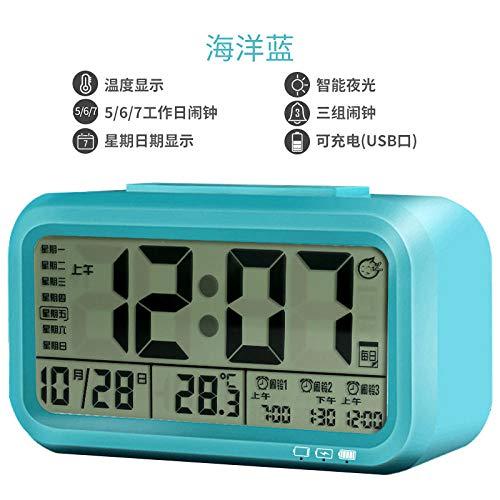hlyhly wandklok, digitaal, groot display, meerdere alarmen, temperatuur, stemalarm, muziek, ringtoon elektronische klok
