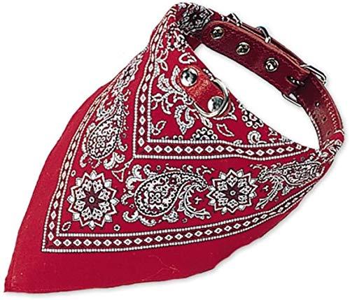 HLSX Hundehalsband mit Tuch,rot,Länge 70 cm