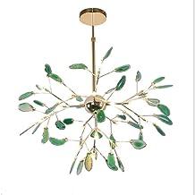 ZBHW Chandelier Living Room Simple Bedroom Restaurant Firefly Agate Lamp Creative Design Post-Modern Hotel