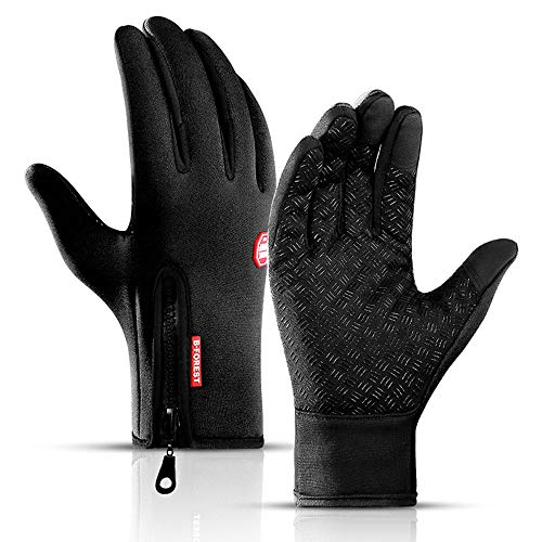 Podanic Herren Wind- und wasserdichte Sport Handschuhe, Ski warme Handschuhe, , rutschfest MTB-Handschuhe, Touchscreen-Funktion Fahrradhandschuhe, Winterhandschuhe für Herren&Damen