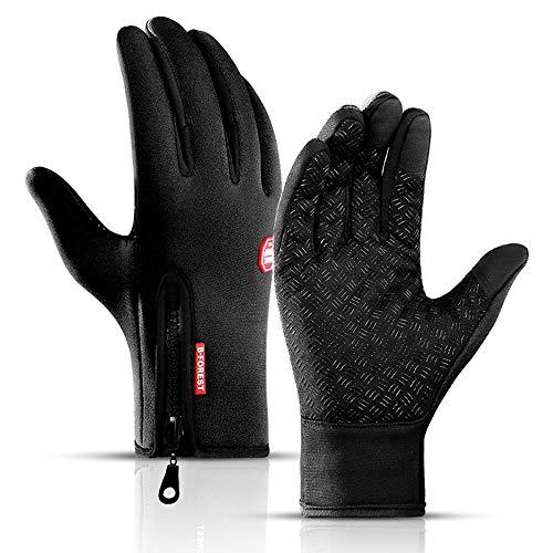 Kyncilor Herren Wind- und wasserdichte Sport Handschuhe, Ski warme Handschuhe, rutschfest MTB-Handschuhe, Touchscreen-Funktion Fahrradhandschuhe, Winterhandschuhe für Herren&Damen