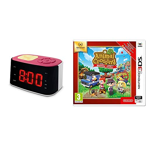 Metronic 477028 Gulli Radio Réveil Veilleuse pour Enfant avec Port USB - Rose et Blanc & Animal Crossing: New Leaf - Welcome Amiibo - SELECTS