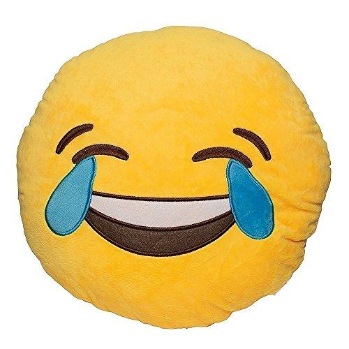 Ducomi Cuscini Emoticon Emoji Smiley e Poo - Morbido Cuscino 30 cm, Gadget Compleanno Regalo Bambini - Cuscini Decorativi Regalini Feste - Spedito da IT (Face 03)