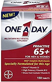 One A Day Proactive 65 Plus Multivitamins, 150 Count - Pack of 5