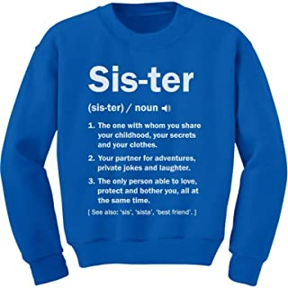 Tstars Sister Definition Funny Big Sister Gift Youth Kids Sweatshirt