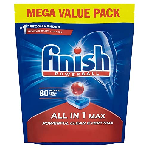 Finish All-in-One Max Dishwasher Tablets, Original, 80 tablets