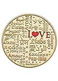 HARPIMER Monete d'Amore Ti Amo Monete Souvenir di San Valentino con Regalo per Amante di Capsule Rotonde Francese, Coreano, Greco, Arabo, Filippine