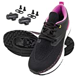 Tommaso Capri Women's Cycling Shoe SPD Bundle - Black/Pink - 9