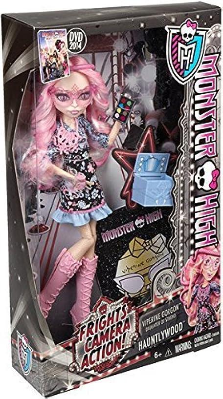 シンプトンウガンダ血統輸入モンスターハイ人形ドール Monster High Frights, Camera, Action! Viperine Gorgon Doll [並行輸入品]