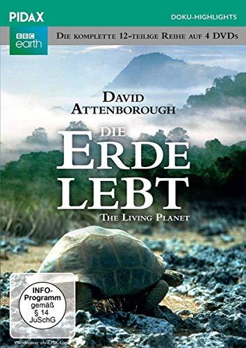 Die Erde lebt (The Living Planet) / Die komplette 12-teilige Reihe von und mit Sir David Attenborough (Pidax Doku-Highlights) [4 DVDs]