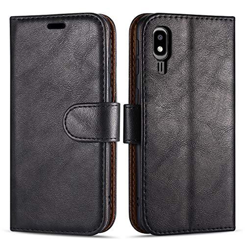 Case Collection Funda de Cuero para Samsung Galaxy A2 Core (5,0') Estilo Cartera con Tapa abatible y Ranuras para Dinero y Tarjeta de crédito para Samsung Galaxy A2 Core Funda