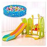 6 en 1 Conjuntos de Diapositivas interior for niños pequeños, se puede utilizar con Swing, Puerta de fútbol, mesas plegables de la Plata, canasta de baloncesto, Bate de béisbol, bola de piscina tobo