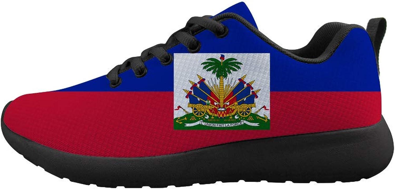 Owaheson Cushioning Sneaker Trail Running shoes Mens Womens Haiti Flag