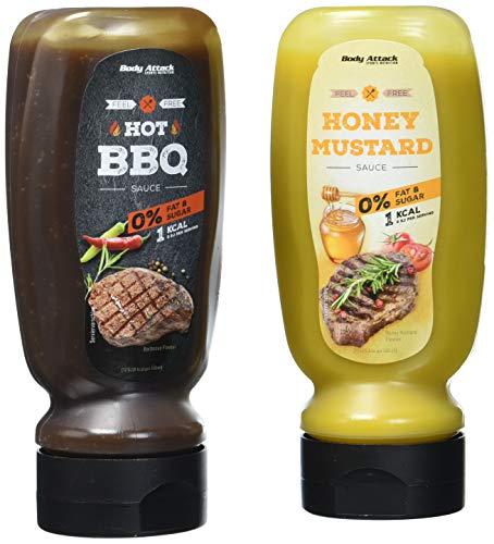 Body Attack Mix-Pack, Honey Mustard + Hot BBQ, 640 ml