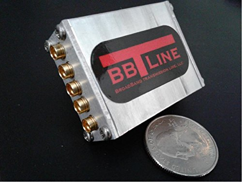 4-Way RF Splitter - Version 1 - SMP Connectors - BroadBand - 500 MHz to 7 GHz