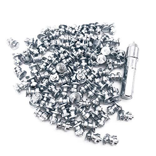 Screw in Tire Stud,Marrkey Steel Body Carbide Tips [Security Anti-Skid] Spikes Tire/Tyre for Bicycle/Shoes/Boots with Installation Key - Pack of 100