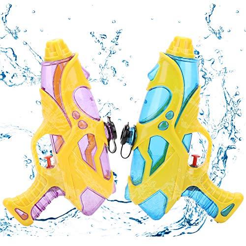 EKKONG Pistola de Agua, 2 Pack Pistola de Agua para Niños Adultos, Pistola de Agua Pequeña,Super Pistola Power para Al Aire Libre, Piscina, Fiesta, Playa,Juguete de Lucha de Agua (2pcs)