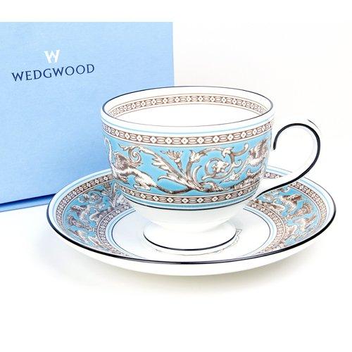 (ウェッジウッド(Wedgwood))フロレンティーンターコイズ ティーカップ&ソーサー(リー)