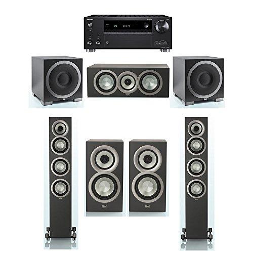 Find Discount ELAC Uni-Fi Slim Black 5.2 System with 2 ELAC FS-U5 Floorstanding Speakers, 1 CC-U5 Ce...