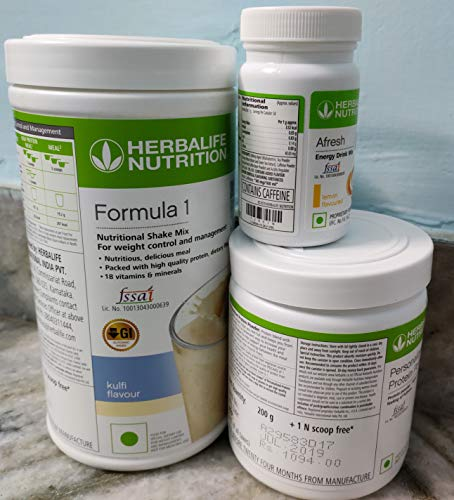 Herbalife Nutrition Weight Loss Package F1 (Kulfi) and Personalized Protein Powder (PPP) and Afresh (Lemon)
