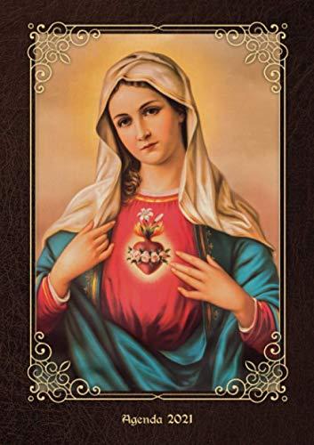 Agenda 2021 Virgen María: 2021 Diario semanal - Tema de la religión - Pequeño formato A5 - Para anotar todas las citas de enero a diciembre 2021 - ... empezar el año nuevo - Versión en español