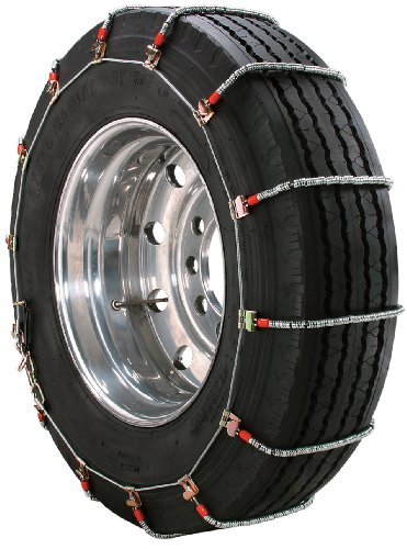 Security Chain Company TA1945 Alloy Radial Heavy Duty Truck Singles Tire Traction Chain - Set of 2