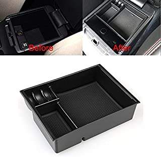 Black ABS Armrest Center Console Storage Box Tray For MAZDA 6 ATENZA 2013-2017