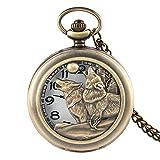 Reloj de Bolsillo con diseño de Perro Cazador, para Hombres y niños