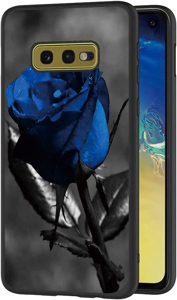 Esakycn for Galaxy S10e case, Phone Case Silicone Black with Rose Pattern Design Ultra Slim Shockproof Soft TPU Girls Women Protective Cover Skin for Samsung Galaxy S10e 5.8 inch. Rose 3