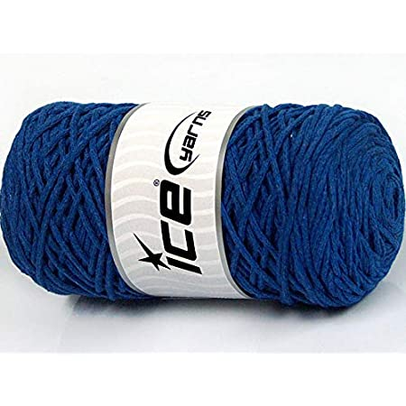 90/% Cotton 250 gr ICE YARNS MACRAME COTTON GLITZ Yarn Light Grey Blue