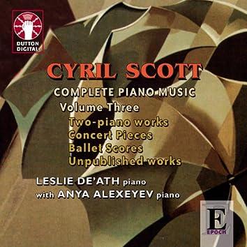 Scott: Complete Piano Music, Vol. 3