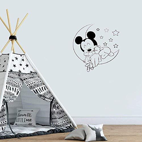 Mickey Mouse Minnie Mouse Sticker Mural AutocollantsMickey Mouse Bébé Dormir Stickers Muraux Mural Pour Enfants Garçons Filles Chambre Art Décoration de La Maison