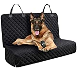 DakPets Dog Car Seat Covers - Pet Car Seat Cover Protector – Waterproof, Scratch Proof, Heavy Duty and Nonslip Pet Bench Seat Cover - Middle Seat Belt Capable for Cars, Trucks and SUVs