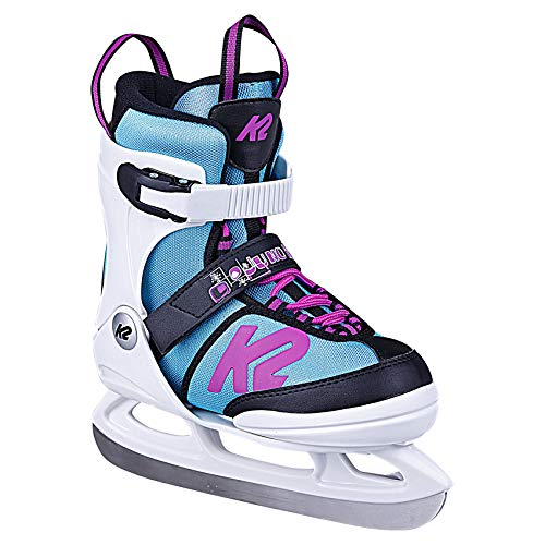 K2 Skates Mädchen Juno Ice (Girl) Skates, White/Light Blue, 32-37 EU